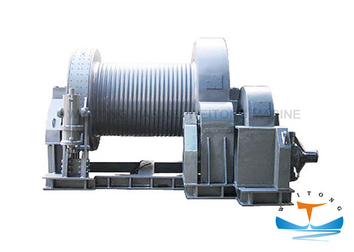 Hydraulic Marine Electric Winch High Mechanical Efficiency For Engineering Vessel