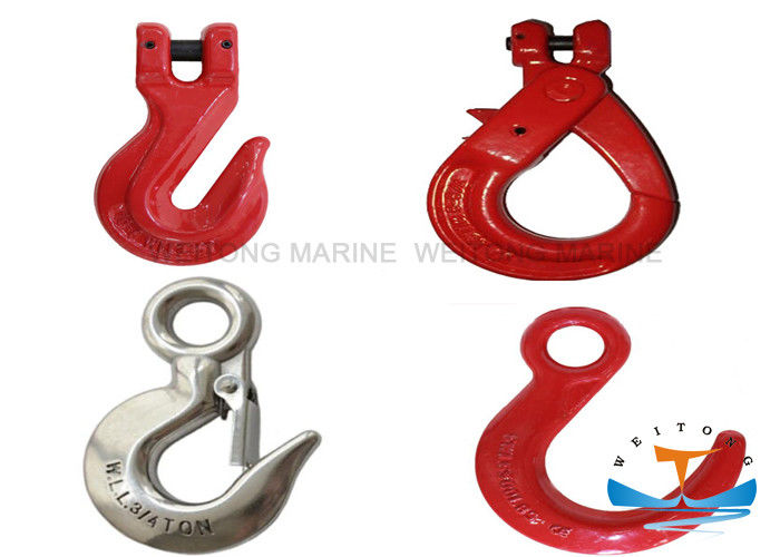 6-26mm Crane Lifting Hooks , Steel Metal Eye Hooks For Lifting And Connecting