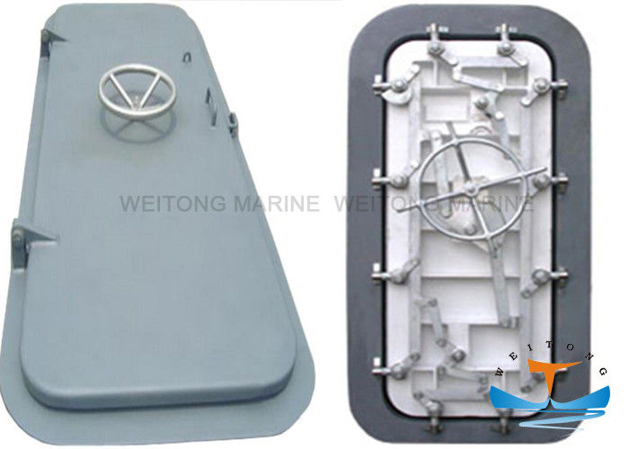 Single Leaf Watertight Doors Marine , Quick Action Waterproof Hatch Door
