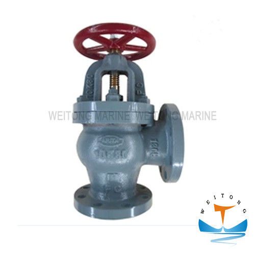 Marine Cast Iron Screw Down Check Angle Valve JIS F7378 16K For Boat
