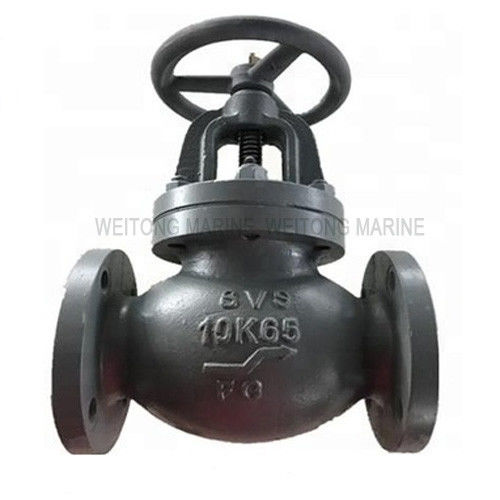 Reliable Marine Valve , Cast Iron 10K Globe Valve JIS F7307 With Handle Wheel